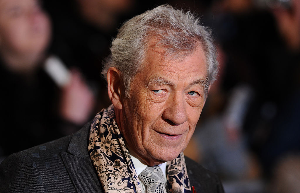 """LONDON, ENGLAND - DECEMBER 01: Ian McKellan attends the World Premiere of """"The Hobbit: The Battle OF The Five Armies"""" at Odeon Leicester Square on December 1, 2014 in London, England. (Photo by Stuart C. Wilson/Getty Images)"""