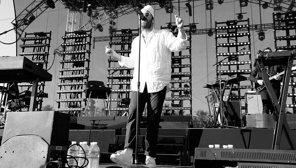 INDIO, CA - APRIL 11:  (EDITORS NOTE: Image was shot in black and white. Color version not available.)  Musician Chet Faker performs onstage during day 2 of the 2015 Coachella Valley Music & Arts Festival (Weekend 1) at The Empire Polo Club on April 11, 2015 in Indio, California.  (Photo by Frazer Harrison/Getty Images for Coachella)