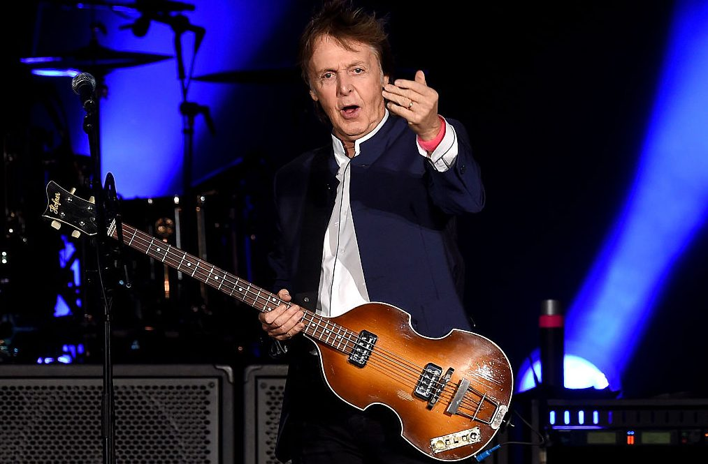 INDIO, CA - OCTOBER 15:  Musician Paul McCartney performs during Desert Trip at the Empire Polo Field on October 15, 2016 in Indio, California.  (Photo by Kevin Winter/Getty Images)