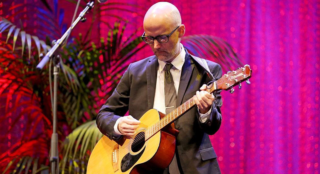 BURBANK, CA - OCTOBER 22:  Musician Moby performs onstage during the Environmental Media Association 26th Annual EMA Awards Presented By Toyota, Lexus And Calvert at Warner Bros. Studios on October 22, 2016 in Burbank, California.  (Photo by Phillip Faraone/Getty Images for Environmental Media Association )