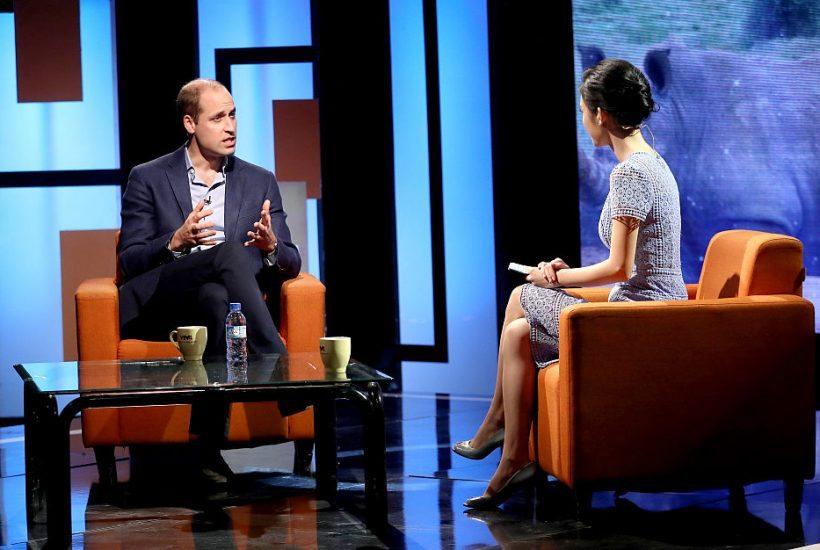 Vilmos, Cambridge hercege interjút ad a 'Talk Vietnam' című műsorban november 17-ém Hanoiban. (fotó: Chris Jackson/Getty Images)