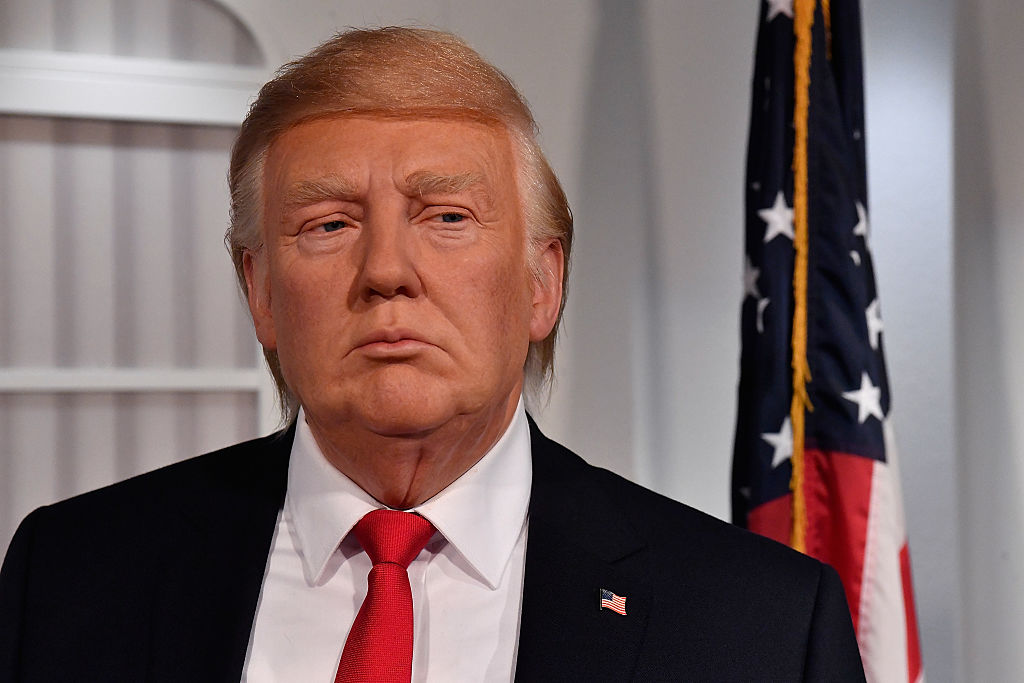 WASHINGTON, DC - JANUARY 18:  Madame Tussauds Washington, DC and attractions in New York, Orlando and London launched its new wax figure of Donald J. Trump at Madame Tussauds on January 18, 2017 in Washington, DC.  (Photo by Larry French/Getty Images for Madame Tussauds Washington DC)