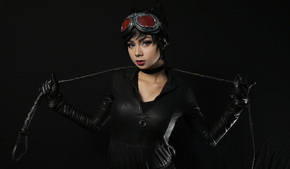 NEW YORK, NY - OCTOBER 12:  Comic Con attendee Meng Ai poses as Catwoman during the 2014 New York Comic Con at Jacob Javitz Center on October 12, 2014 in New York City.  (Photo by Neilson Barnard/Getty Images)
