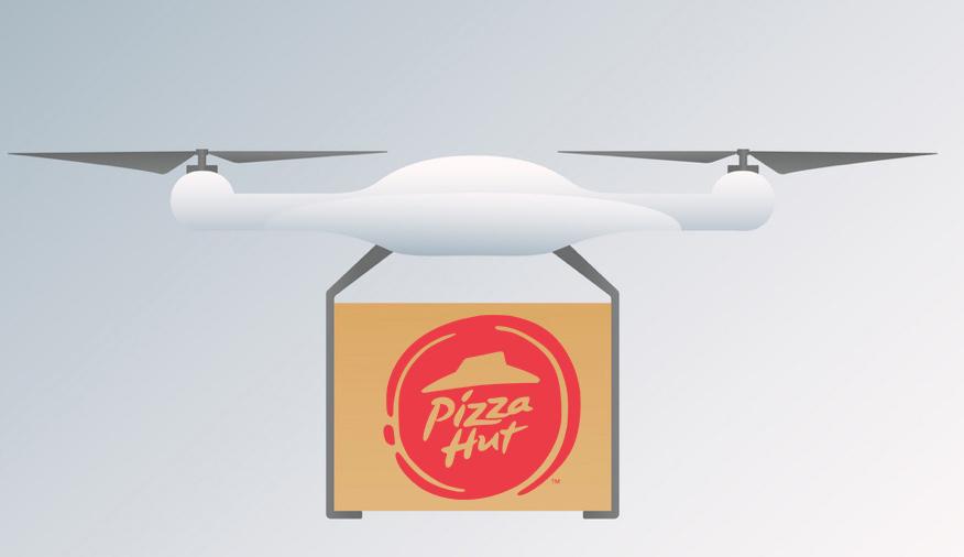 A jövő már itt van, drónnal szállít a Pizza Hut